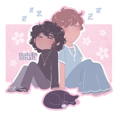 sylvia and vincenzo sleeping smol